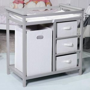 Infant Diaper Storage Changing Table W/ 3 Baskets-Gray BB4723 for Sale in Rosemead, CA