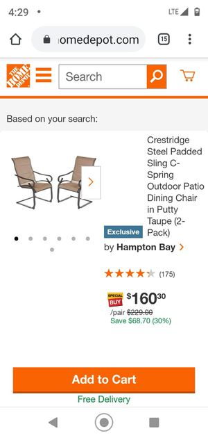 New set of 6 outdoor dining chairs for Sale in Hampton, GA