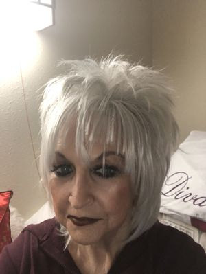 Ladies Silver Short Shaggy Wig for Sale in Tallahassee, FL
