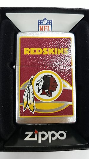 Zippo NFL Washington Redskins brushed chrome 24628 for Sale in Los Angeles, CA