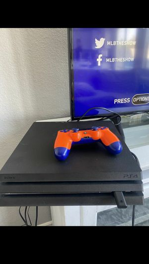 Ps4 pro black with games for Sale in Beason, IL