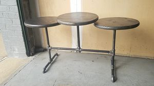 Handcrafted Three Level Pipe Coffee Table for Sale in Alexandria, VA
