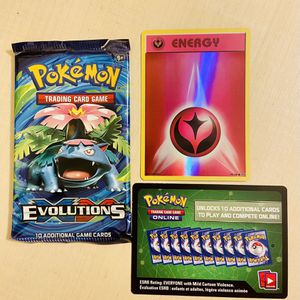 Pokemon Cards: Evolutions Holo Fairy Energy + Code Card for Sale in Irvine, CA