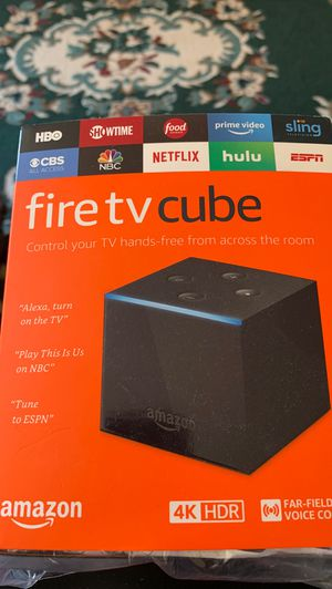 Fire TV cube 4K HDR w/ Alexa voice remote for Sale in Baltimore, MD