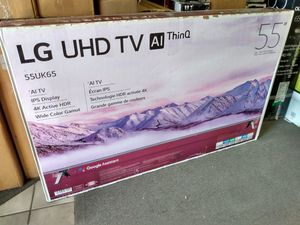 """55"""" LG 4k UHD Smart HDR LED Tv for Sale in Lincoln Acres, CA"""