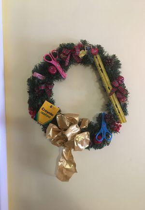 Unique Teacher Themed Wreath for Sale in Whitesboro, NY