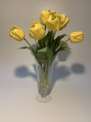 Artificial flowers - yellow tulips in a vase for Sale in Fremont, CA
