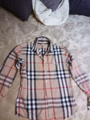 Button-down Burberry shirt for Sale in Atlanta, GA