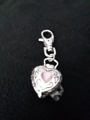 VTG Avon 2004 Heart Shape Cover Clip Watch with pink stone for Sale in Manchester Township, NJ