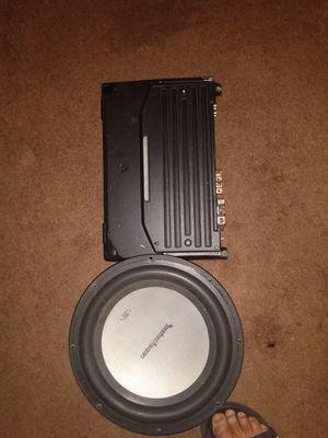 Kenwood amplifier & rockfosgate speaker for Sale in Monroe, GA