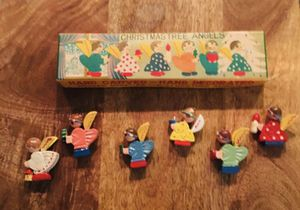 Vintage Hand Carved & Hand Painted Wooden Christmas Angels for Sale in Atlanta, GA