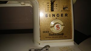 Singer Sewing Machine Touch N Sew Zig Zag Deluxe Model 630 with console table and many extras for Sale, used for sale  Queens, NY