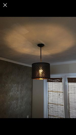 Black bronze and gold light fixture for Sale in Pittsburgh, PA