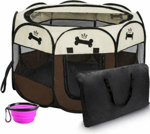 Portable Foldable Pet Playpen Pet Kennel - Carrying Case - Waterproof for Sale in Los Angeles, CA