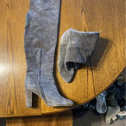 Gray Suede Boots for Sale in Ellensburg,  WA