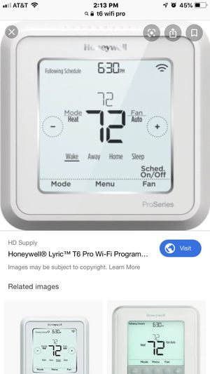 Honeywell t6 pro WiFi thermostat for Sale in San Antonio, TX