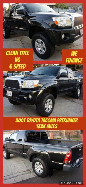 2007 Toyota Tacoma Prerunner 132K Miles V6 Manual We Finance for Sale in Los Angeles, CA