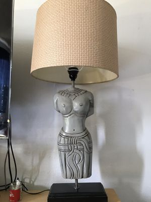 Tall Woman Lamp w Shade for Sale in Los Angeles, CA
