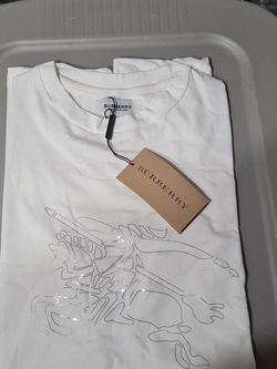 Burberry mens Ivory t Shirt Rhinestone for Sale in Jersey City,  NJ
