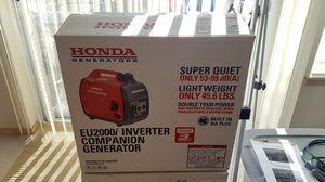 Honda EU2000i 1600-Watt 120-Volt Super Quiet Portable Inverter Generator for Sale in Chelan, WA
