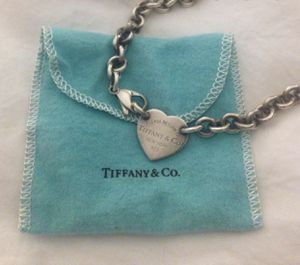 Tiffany & Co. Heart Tag Choker Necklace with Clasp!!! for Sale in Half Moon Bay, CA