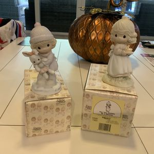 Lot of 2 precious moments - birthday blessing & good friends - includes box - $15 - Weston, cash only for Sale in Weston, FL