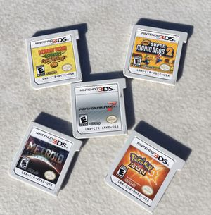 Nintendo 3ds xl games Metroid Mario kart 7 have cases Pokemon sun super Mario Bros 2 $20 each for Sale in Chula Vista, CA