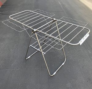 """(NEW) $20 Folding Stainless Steel Laundry Clothes Drying Rack Indoor and Outdoor 60x37x39"""" for Sale in Whittier, CA"""