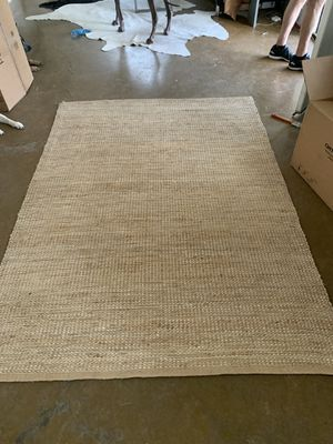 5x8 Jute Rug with Silver Threading for Sale in Phoenix, AZ