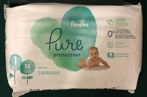 Pampers Pure Diapers Jumbo Pack, Size 1 (35ct) for Sale in Atlanta, GA