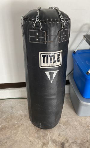 150lb heavy bag title professional leather for Sale in Centreville, VA
