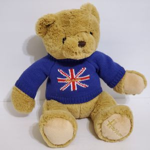 "Harrods Knightsbridge Plush Teddy Bear British Union Jack Flag Blue Sweater 14"" for Sale in Brookfield, IL"