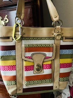 Multicolored Coach Spring Tote Shoulder Bag for Sale in Hendersonville,  TN