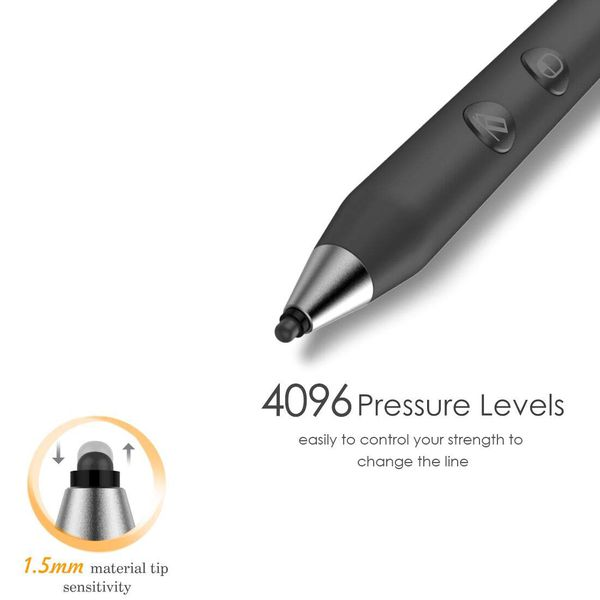 New Microsoft Certified Surface Pen Support 500Hrs Working & 180Day Standby Surface Pro Pen 4096 Pressure Sensitivity Rechargeable Surface Go Pen For