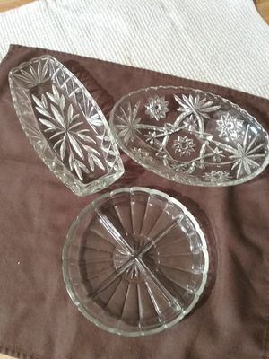 Antigue crystal serving dishes for Sale in Pittsburgh, PA