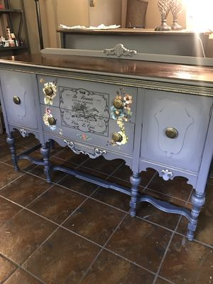 Antique chalk painted buffet table. for Sale in Pemberton, NJ