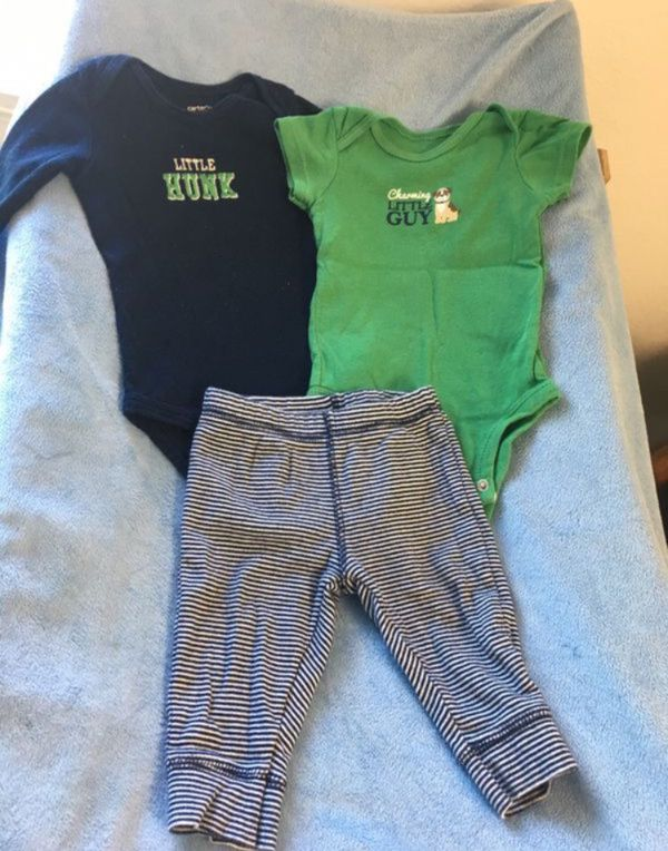 Baby boy set (3pcs)👶🏼👕👖