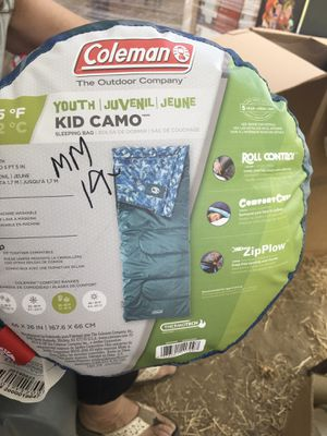 Coleman youth Camo sleeping bag for Sale in Kingsburg, CA