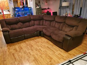 Brown L Couch $800.00 OBO for Sale in Sioux City, IA