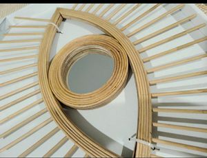 Rattan Eye Wall Mirror Accent Decoration for Sale in South Gate, CA