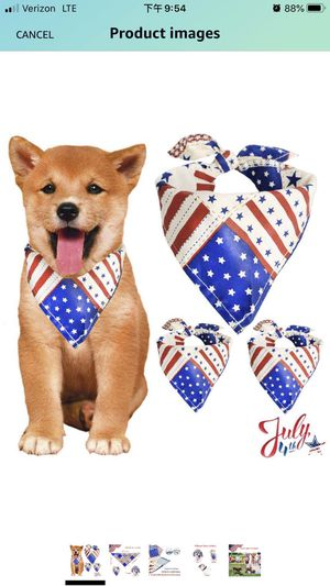 Dog BandanaTriangle Bibs Scarf for Small and Medium Puppy Dogs Pets Cats 3 Pack for Sale in Brooklyn, NY