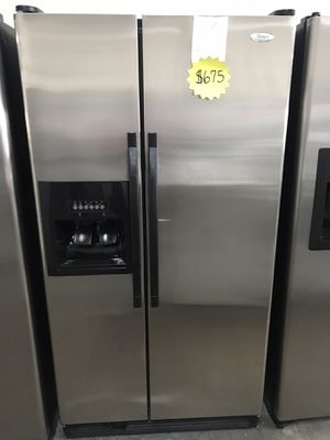 Whirlpool stainless steel refrigerator for Sale in Garland, TX