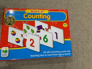 Matching counting game for kids for Sale in Alexandria, VA