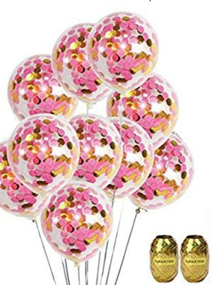 Pink and Gold Balloons for Sale in Raleigh, NC