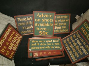 Bar pool signs for Sale in Mason City, IA
