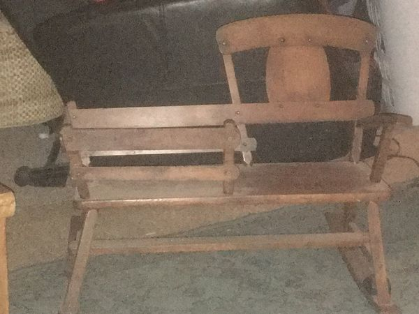 Children's antique rocker