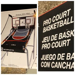 MD sports heavy duty 2 player basketball game 8 diff games.enlarged LED electronic scorer & game clock. Model BG 144Y19004.foldable design. BRAND NEW for Sale in Laguna Hills, CA