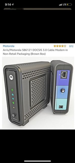 Motorola SB6121 cable modem and Netgear N600 WiFI Router for Sale in Chicago, IL