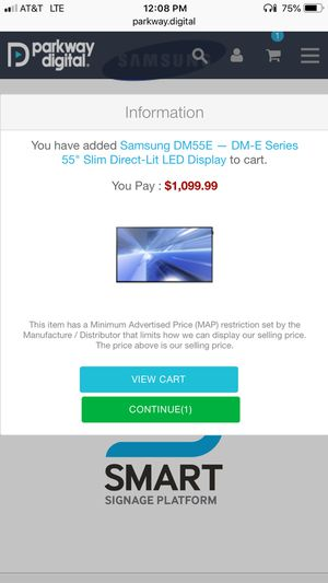 "Samsung DM55E 55"" Digital Sign/TV for Sale in Charleston, WV"