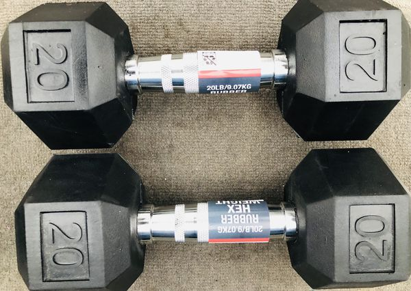 Two new 20 Pound Weights (dumbbells)